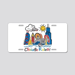 Chicago Rules Aluminum License Plate