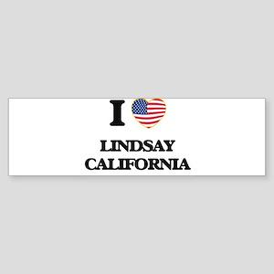 I love Lindsay California USA Desig Bumper Sticker
