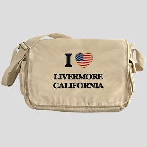 I love Livermore California USA Desi Messenger Bag