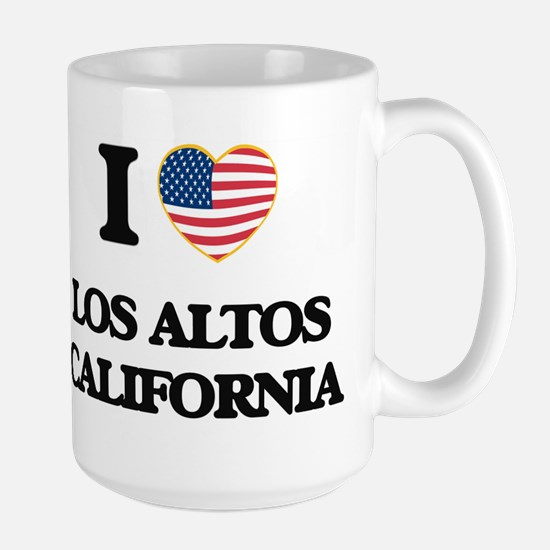 I love Los Altos California USA Design Mugs