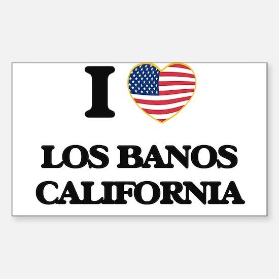 I love Los Banos California USA Design Decal