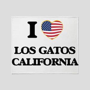 I love Los Gatos California USA Desi Throw Blanket