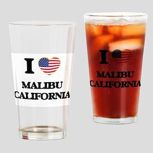 I love Malibu California USA Design Drinking Glass