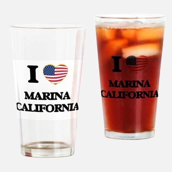I love Marina California USA Design Drinking Glass