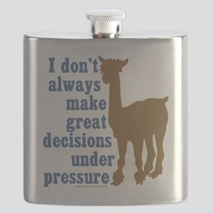 Modern Family Alpaca Decisions Flask