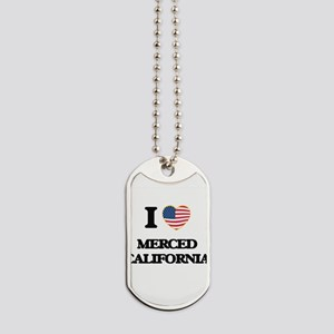 I love Merced California USA Design Dog Tags