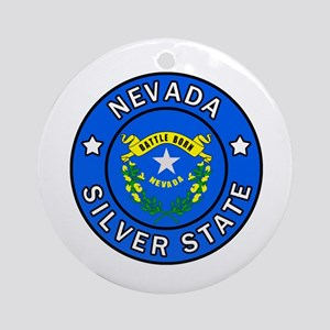 Nevada Round Ornament