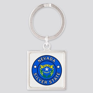 Nevada Square Keychain