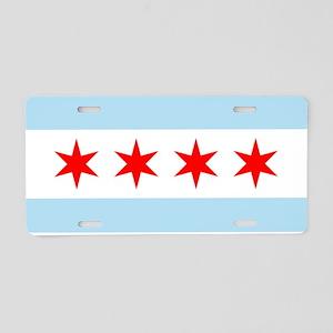 Flag of Chicago Aluminum License Plate