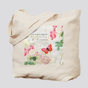 Roses and butterfly Tote Bag