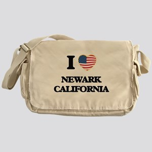 I love Newark California USA Design Messenger Bag
