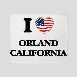 I love Orland California USA Design Throw Blanket