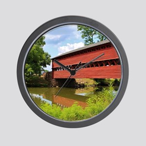 Sach's Covered Bridge Wall Clock