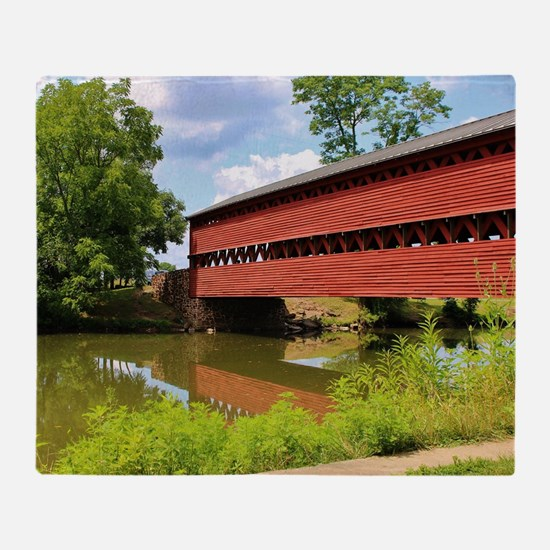 Sach's Covered Bridge Throw Blanket