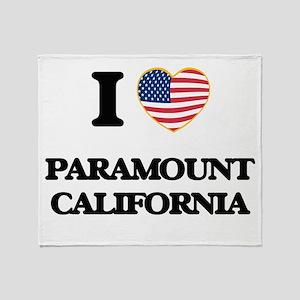 I love Paramount California USA Desi Throw Blanket