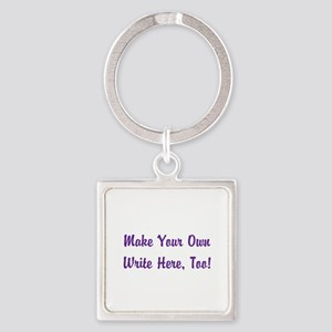 Make Your Own Cursive Saying/Meme Square Keychain