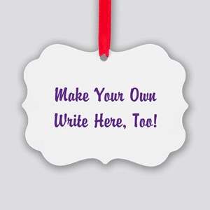 Make Your Own Cursive Saying/Meme Picture Ornament