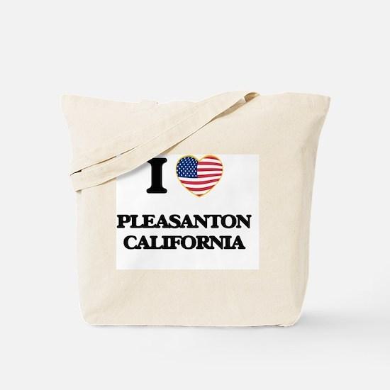 I love Pleasanton California USA Design Tote Bag