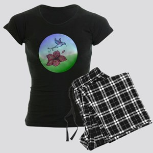 Humming bird & flower Women's Dark Pajamas