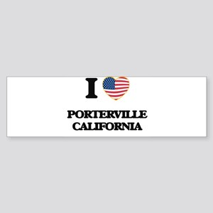 I love Porterville California USA D Bumper Sticker