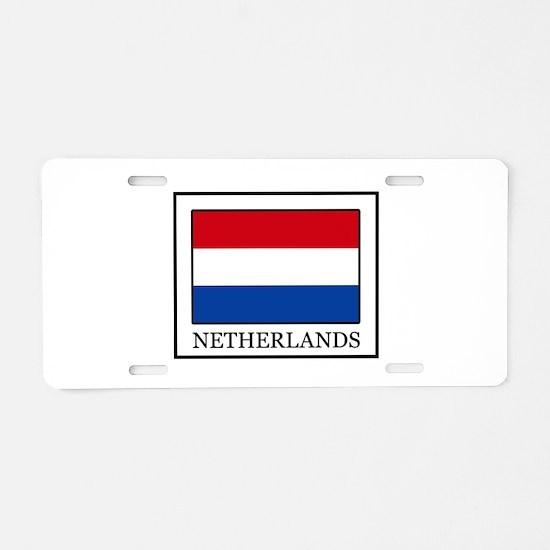 Netherlands Aluminum License Plate