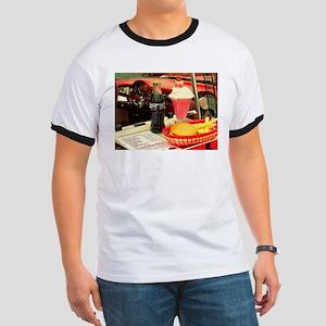 vintage rockabilly burger fries cola sunda T-Shirt