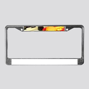 vintage rockabilly burger frie License Plate Frame
