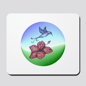 Humming bird & flower Mousepad