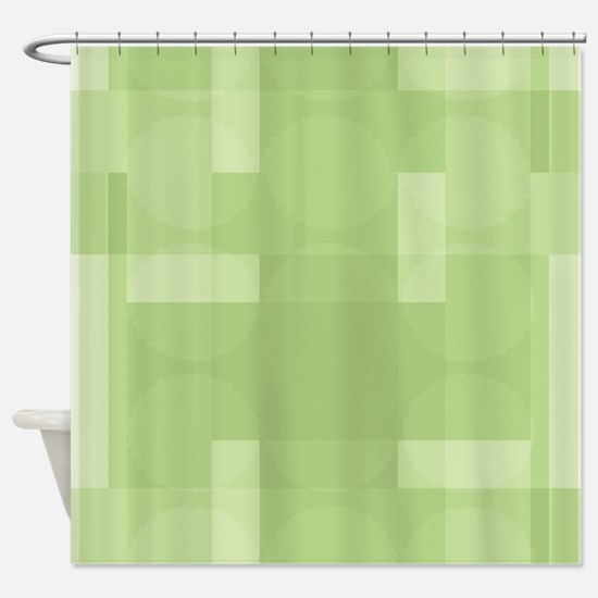 Layered Abstract - Treetop Shower Curtain