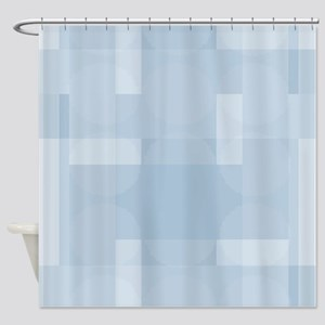 Layered Abstract - Dusk Blue Shower Curtain