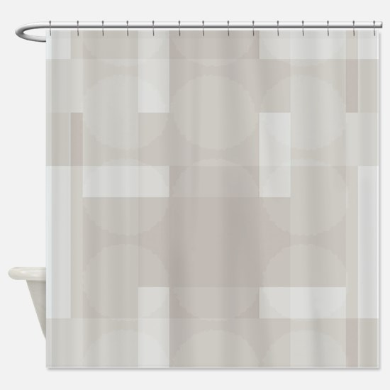 Layered Abstract - Glacier Gray Shower Curtain