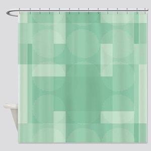 Layered Abstract - Lucite Green Shower Curtain