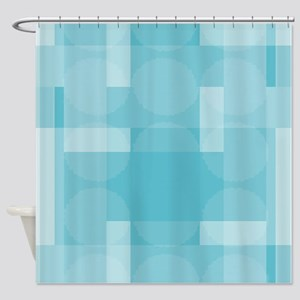 Layered Abstract - Scuba Blue Shower Curtain