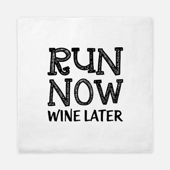 Run Now Wine Later Queen Duvet