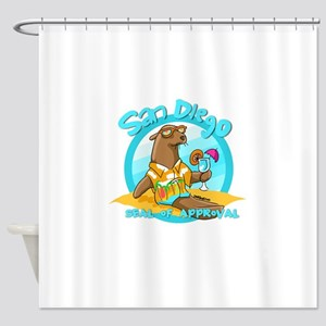 San Diego Seal of Approval Shower Curtain