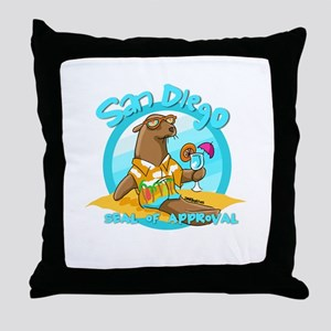 San Diego Seal of Approval Throw Pillow