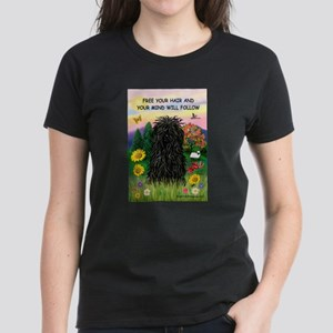 Free Your Hair.....Puli Women's Dark T-Shirt