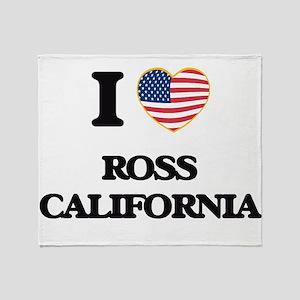I love Ross California USA Design Throw Blanket