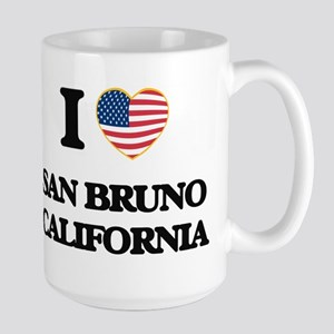 I love San Bruno California USA Design Mugs