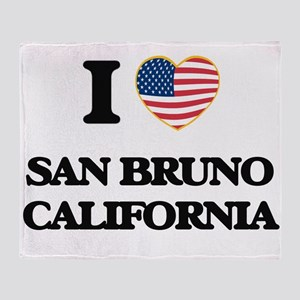 I love San Bruno California USA Desi Throw Blanket