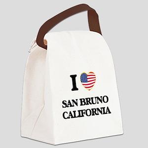 I love San Bruno California USA D Canvas Lunch Bag