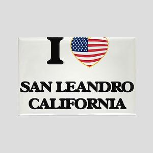 I love San Leandro California USA Design Magnets