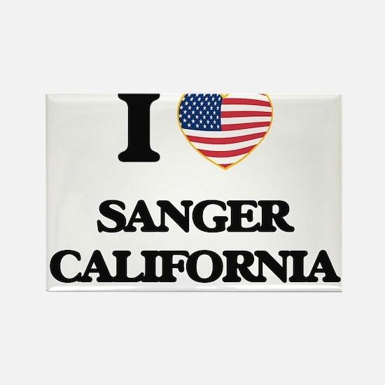 I love Sanger California USA Design Magnets