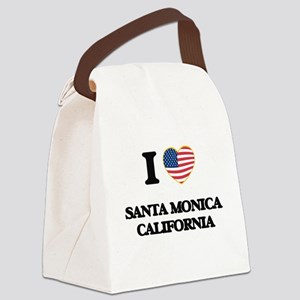 I love Santa Monica California US Canvas Lunch Bag