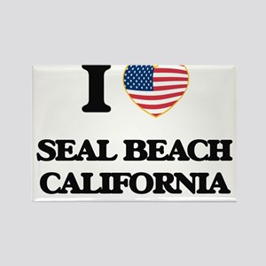 I love Seal Beach California USA Design Magnets