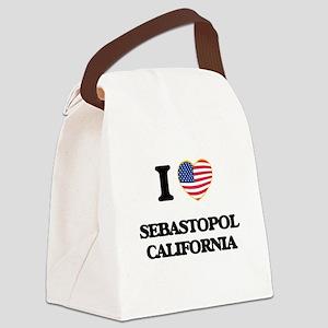 I love Sebastopol California USA Canvas Lunch Bag