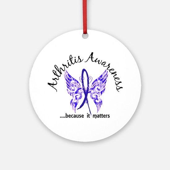 Arthritis Butterfly 6.1 Ornament (Round)