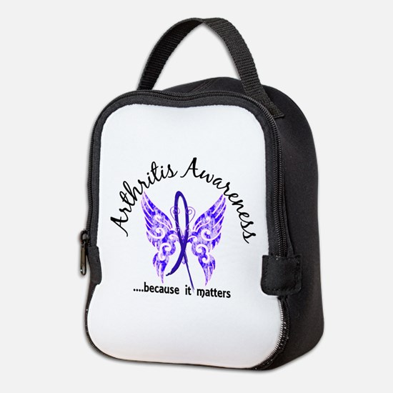 Arthritis Butterfly 6.1 Neoprene Lunch Bag