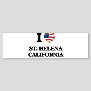 I love St. Helena California USA De Bumper Sticker