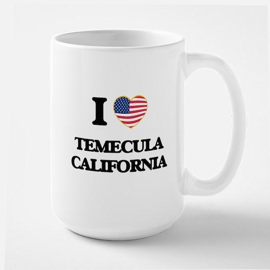 I love Temecula California USA Design Mugs